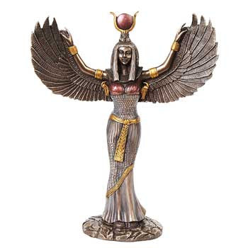 Egyptian Isis statue silver