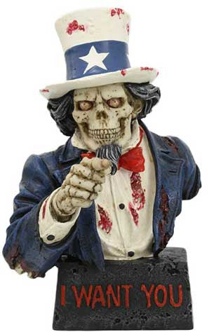 "7 1/2"" Skull Uncle Sam"