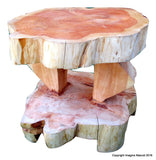 Double Level Cypress Tree Trunk Handmade Coffee Table - Free Shipping