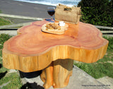 Made to Order - Naturally Unique CCypress Tree Trunk Handmade Coffee Table - Log Rustic Chilean - FREE WORLDWIDE SHIPPING Active