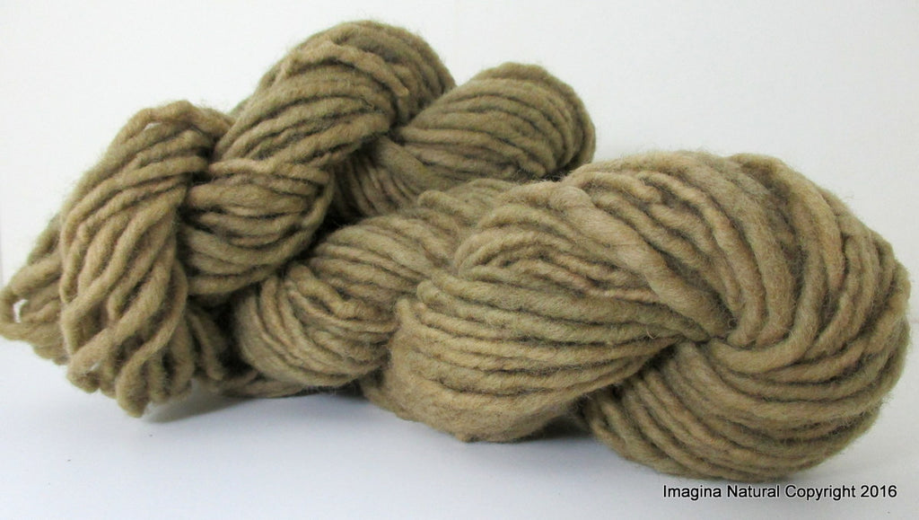 Organic Natural Real Eucaliptus Colour, Hand Spun, Pure Handmade Super Bulky Wool, Non Toxic, Hand Painted, Non intensively Farmed. Natural Green Plant Colour Active