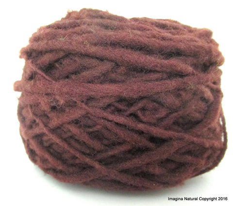 Organic Natural Hawthorn Colour, Hand Spun, Pure Handmade Wool, Non Toxic, Hand Painted, Non intensively Farmed. Brown Plant Colour