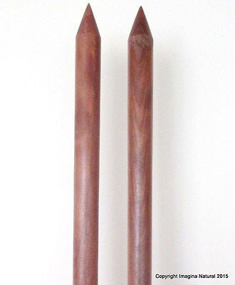 Jumbo Giant Thickness Chile Oak Knitting Needles Chunky Custom 40mm wide x 25cm - Imagina Natural