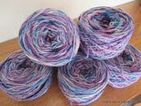 100% Pure Natural Chilean Wool Yarn, Handmade Knitting Hand Dyed Skein Araucania