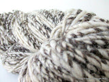 Hand Spun Undyed Non treated Pure Chilean Araucana Wool Knitting Yarn Handmade Black and White - Imagina Natural