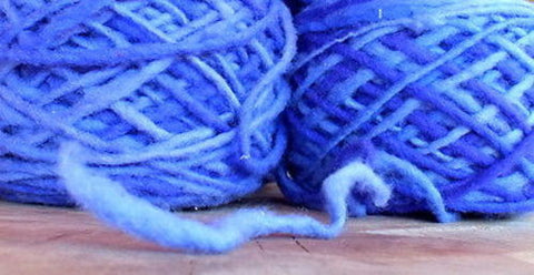 100% Pure Natural Chilean Wool Yarn, Handmade Knitting Hand Dyed Skein Araucania (BLue Mix) - Imagina Natural