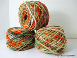 100% Pure Natural Chilean Wool Yarn handmade 100g knitting Orange Green Red Wool