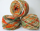 100% Pure Natural Chilean Wool Yarn handmade 100g knitting Orange Green Red Wool - Imagina Natural