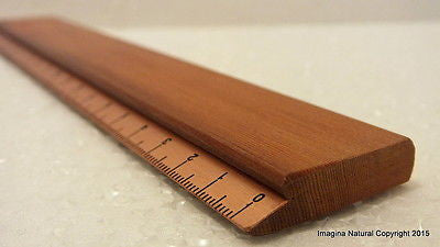 Luxury Wooden Ruler Copper measure Handmade Chilean Rauli Ruler Executive design - Imagina Natural