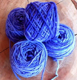 100% Pure Natural Chilean Wool Yarn, Handmade Knitting Hand Dyed Skein Araucania (BLue Mix)
