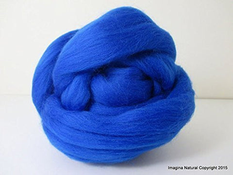 Free Shipping Blue Handmade Merino Roving Wool Hand Spinning Felting Fibre Araucania Craft Art Chilean Knitting Chunky 18 Microns - Imagina Natural
