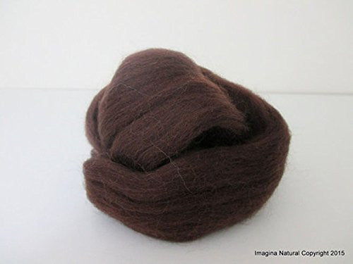 Free Shipping Brown Grey Handmade Merino Roving Wool Hand Spinning Felting Fibre Araucania Craft Art Chilean Knitting Chunky 18 Micron - Imagina Natural