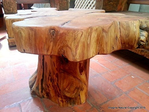 naturally unique cypress tree trunk handmade coffee table rustic chilean log table imagina natural