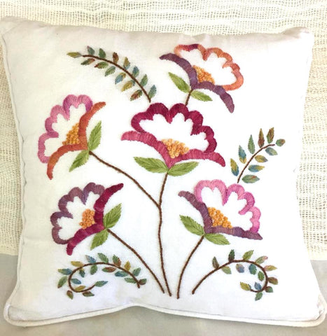 Beautiful cotton cushions embroidered by hand  free shipping