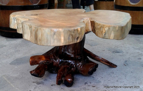 naturally unique cypress tree trunk handmade coffee table - log
