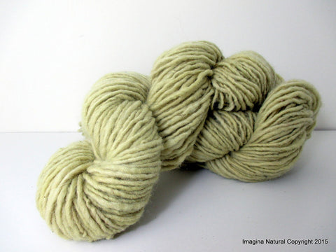 Organic Natural Fennel Colour, Hand Spun, Pure Handmade Wool, Non Toxic, Hand Painted, Non intensively Farmed. Natural Green Plant Colour - Imagina Natural