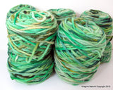 Limited Edition Handspun Hand dyed yarn Bulky Chilean Wool Knitting Multicolour Araucania Chunky Skein Green Light Green100g 3.5oz