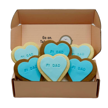 #1 DAD FATHERS DAY COOKIES GIFT BOX SWEET MICKIE QUOTE COOKIES
