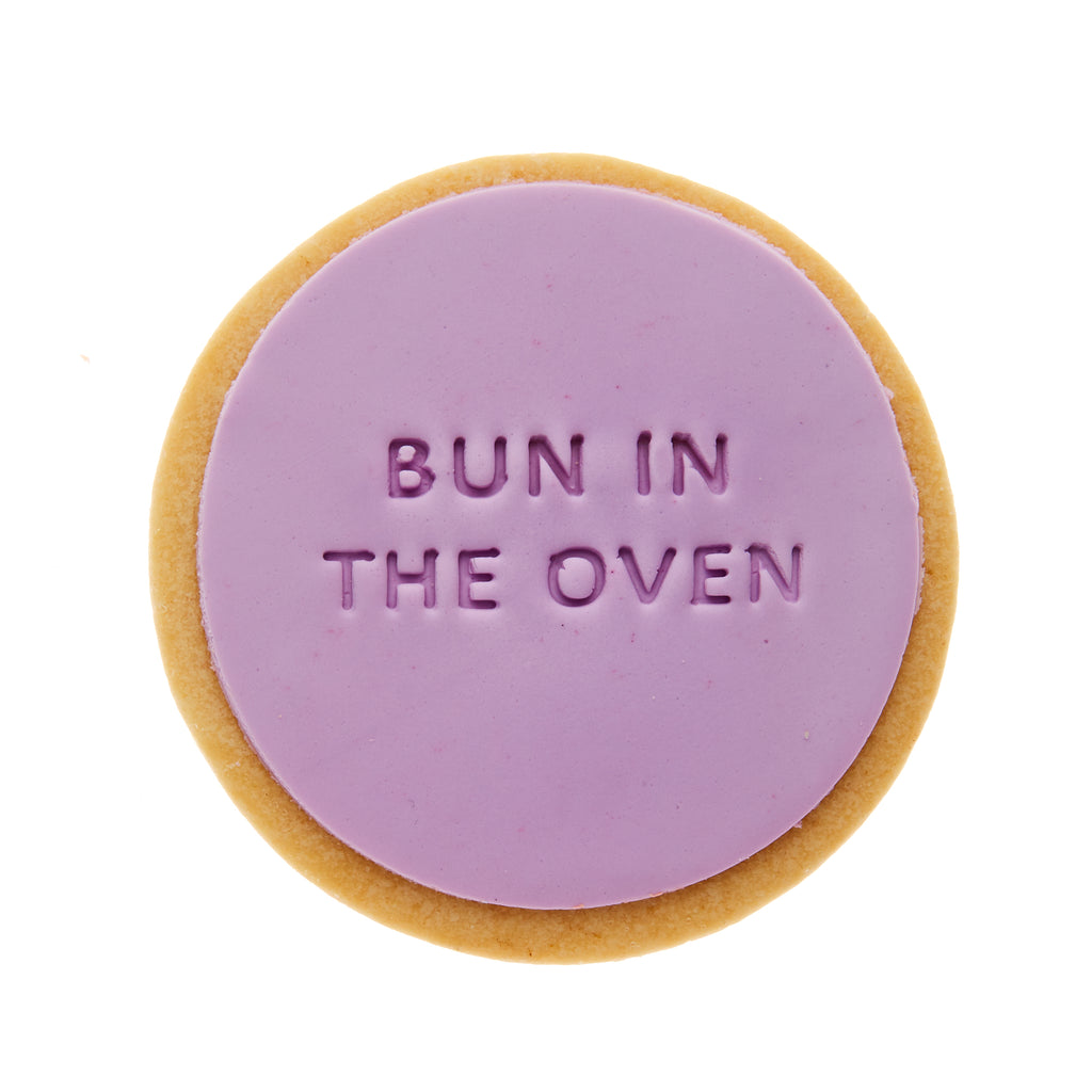 bun in the oven baby shower cookie gift delivery