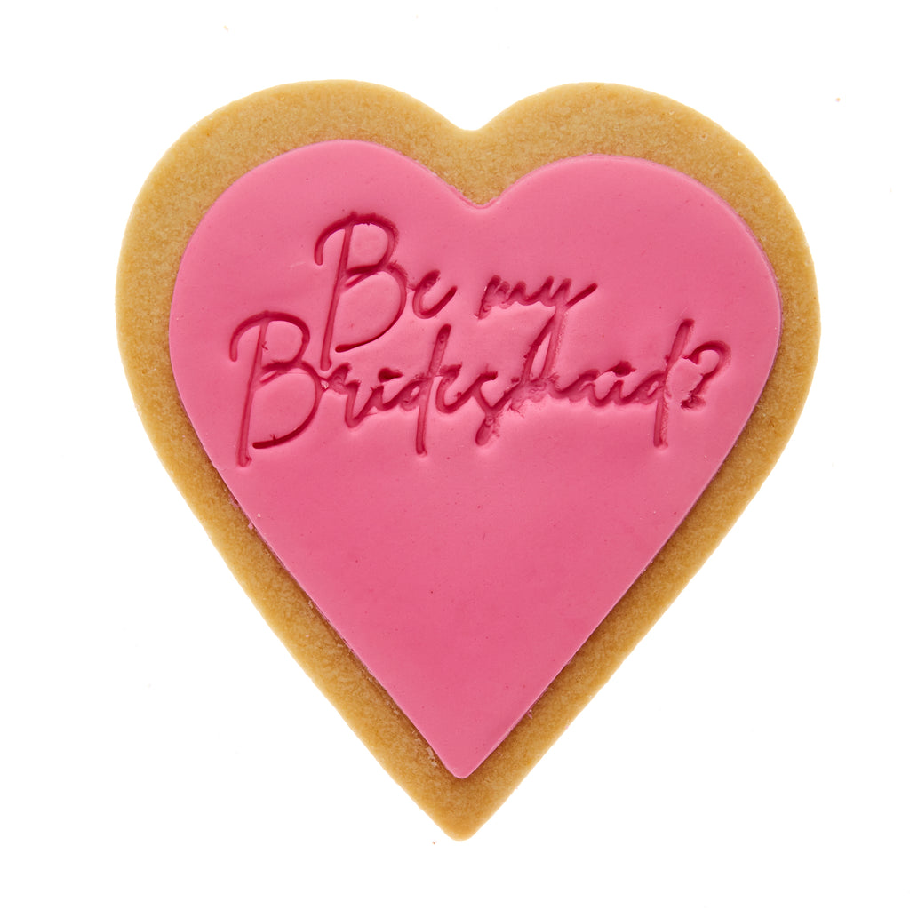 Be my bridesmaid cookie gift delivery quote cookie
