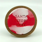 santa stop here christmas gingerbread