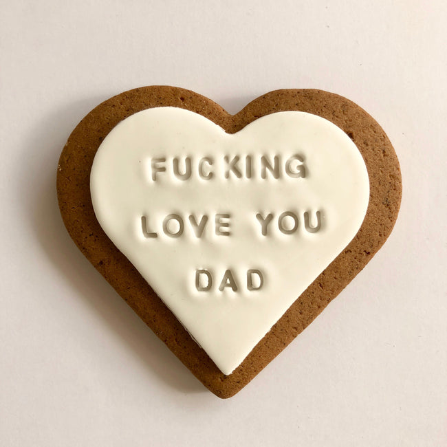 fathers day fucking love you dad gift cookie
