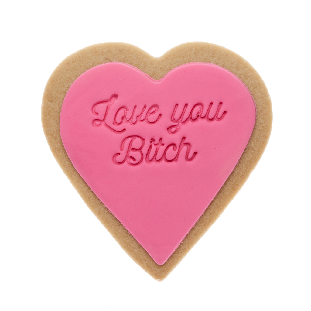 love you bitch cookie gift delivery melbourne same day pink quote cookie
