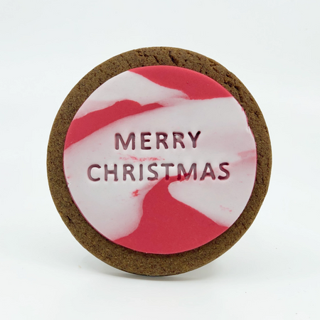 merry christmas gingerbread quote cookie
