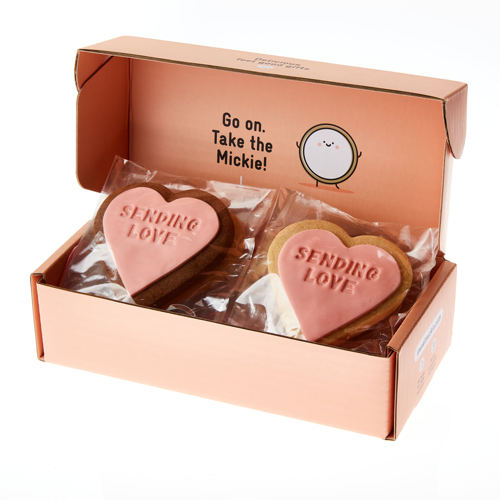 sending love cookie gift delivery peach packaged gift box