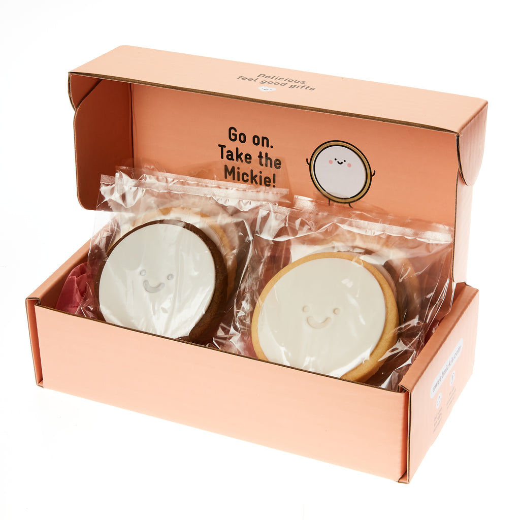 Mickie Smiley Face cookie Melbourne Same Day gift delivery packaged gift box