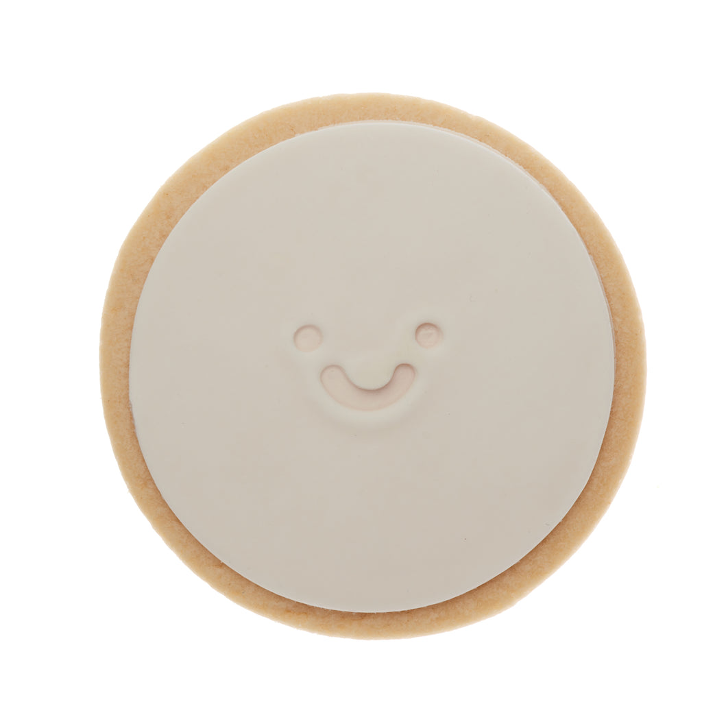 Mickie Smiley Face cookie Melbourne Same Day gift delivery white quote cookie