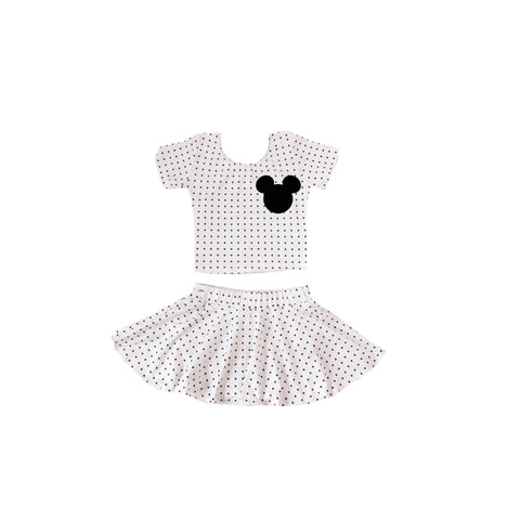 Dotted skirt Mickey set