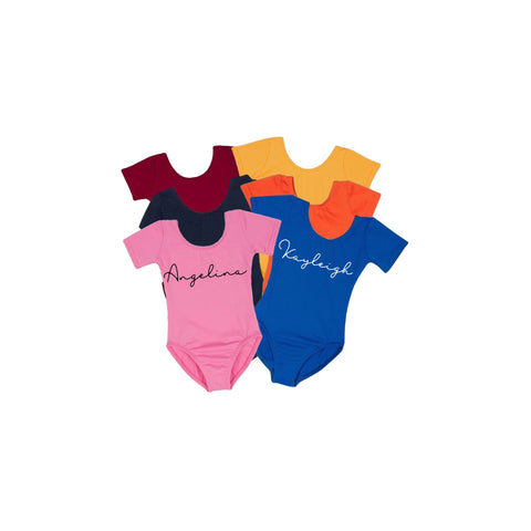 Personalized name leotards