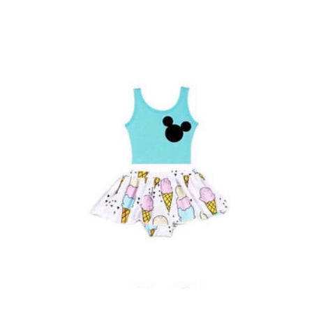 Mint Mickey skirted leo