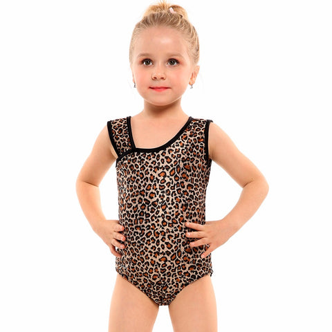 Leopard girls leotard