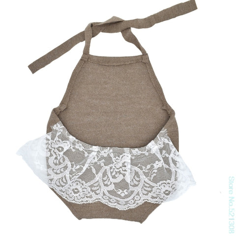 Baby lace halter leotard