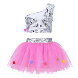 Gymnastics ballet tutu skirt set