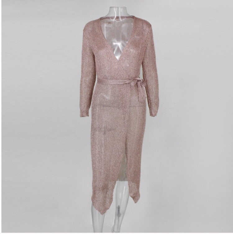 Cathy Dress - Long (Rose gold)