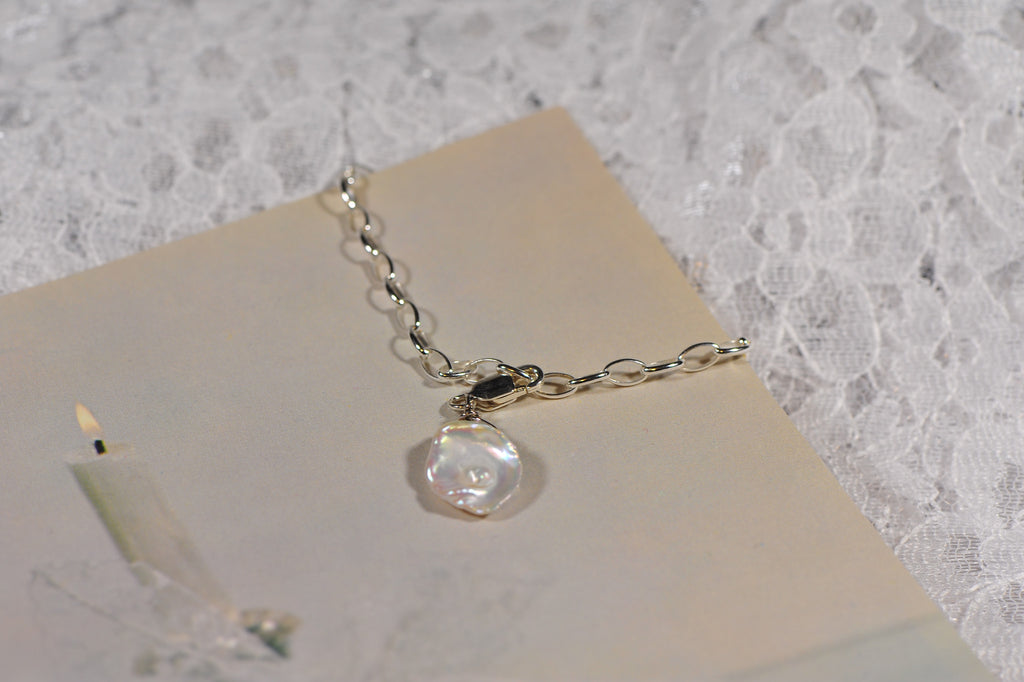 Cultured Keshi Pearl Charm