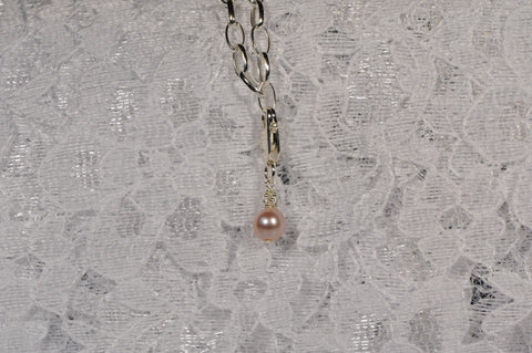Perfect Pink Cultured Round Freshwater Pearl Charm