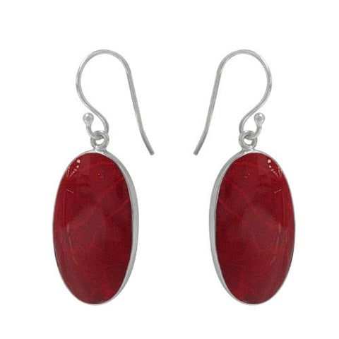 Sponge Coral Drop Style Sheppard Hook Earrings: E1514