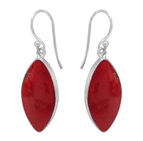 Sponge Coral Drop Style Sheppard Hook Earrings: E1583