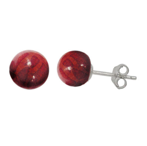 Sponge Coral Ball Style Stud Earrings: E1621