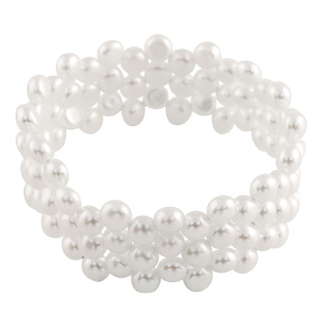 Pearl Cuff Style Bracelet: White: BR07
