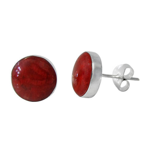 Sponge Coral Flat Style Stud Earrings: E1565