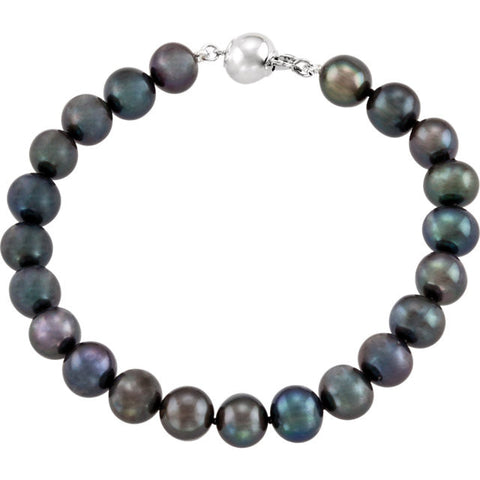 Classic and Dramatic Peacock Pearl Bracelet: BR67628