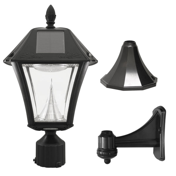 "Gama Sonic Baytown II Solar Light with Wall/Post/3"" Fitter Mount"