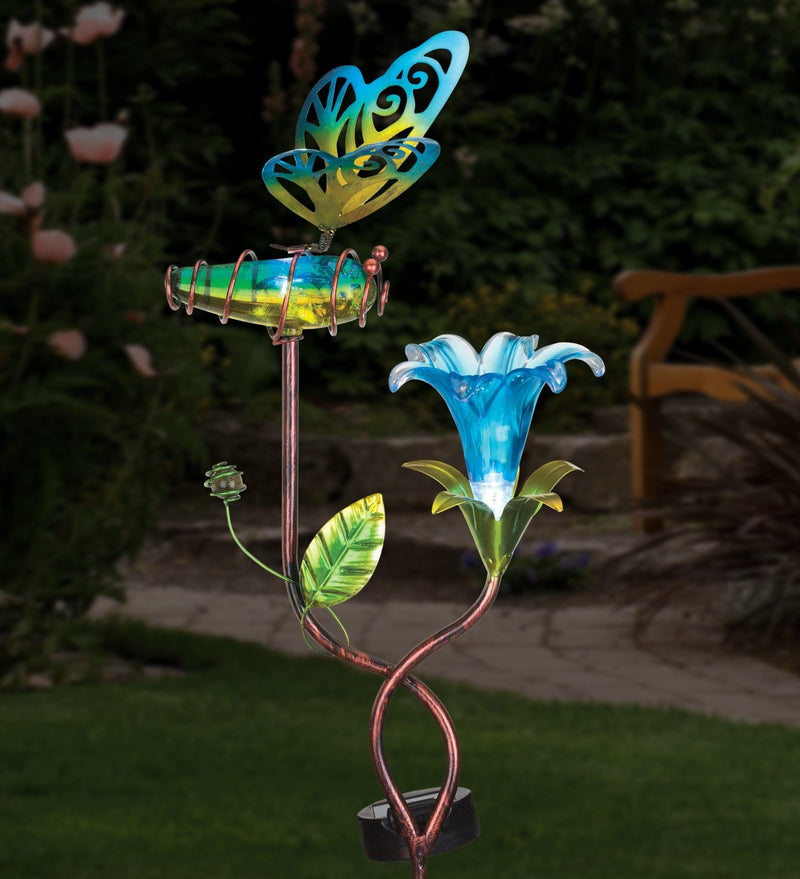 Ellipse Flower Solar Stakes by Regal - YourGardenStop