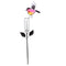 Bird Rain Gauge Stake (Pink, Orange, Blue & Green) - YourGardenStop