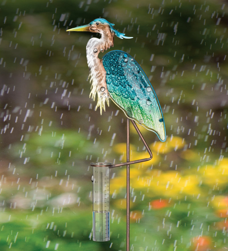 Bird Rain Gauge Stake - Egret, Heron & Flamingo by Regal Art & Gift - YourGardenStop
